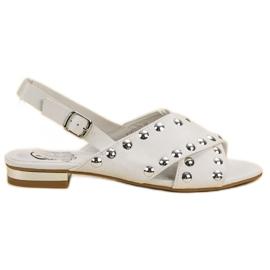 Kylie Bijele sandale pričvršćene kopčom bijela