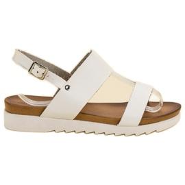 Best Shoes bijela Bijele ravne sandale