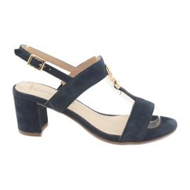 Sandale na postolju Caprice 28303 mornarsko plave boje mornarica