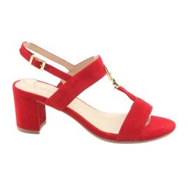 Sandale na postolju crvene Caprice 28303 crvena