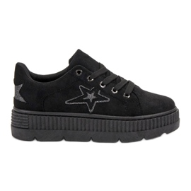 SHELOVET crna Suede Creepers