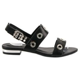 Kylie crna Ležerne crne sandale