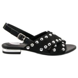 Kylie crna Crne sandale pričvršćene kopčom