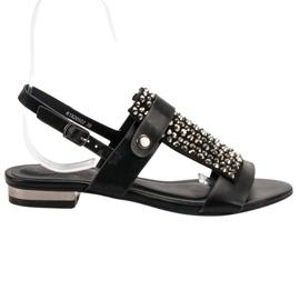Kylie crna Crne ženske sandale
