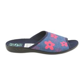 Ženske papuče u cvijeću Adanex mornarsko plave boje