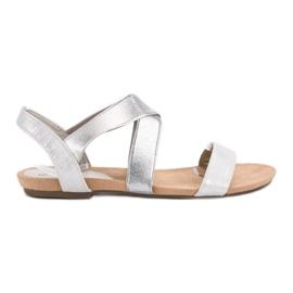 Evento siva Slip-on sandale s elastičnim trakom