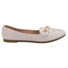 Top Shoes siva Moderna balerina