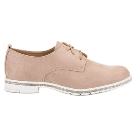 Marquiz rózsaszín Velúr cipő