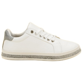 SDS bijela Sportske cipele s cirkonima