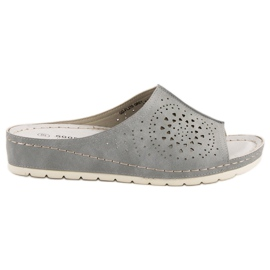Goodin otvorene sive ženske papuče siva
