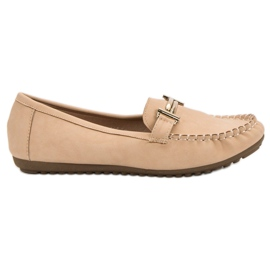 Top Shoes smeđ Bež ženske mokasine