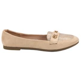 Top Shoes smeđ Moderna balerina