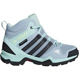 Kék Adidas Terrex AX2R Mid Cp Jr BC0672 cipő