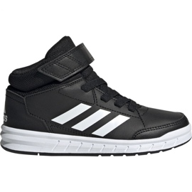 Fekete Adidas AltaSport Mid K Jr G27113 cipő