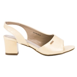 Goodin Elegantne slip-on sandale žuti
