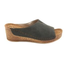 Ženske papuče Inblu NG002 crno smeđe boje