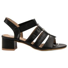 Evento fekete Magas sarkú cipő