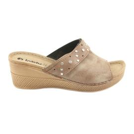 Ženske papuče Inblu OS007 smeđ
