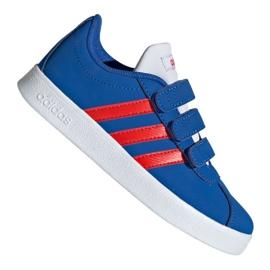 Kék Adidas Vl Court 2.0 Cmf C Jr EE6904 cipő