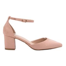 Small Swan rózsaszín A csattal rögzített szivattyúk