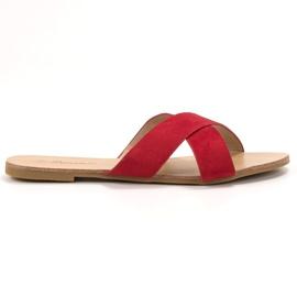 Primavera crvena Udobne ravne papuče
