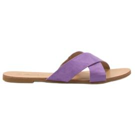 Primavera purpurna boja Udobne ravne papuče