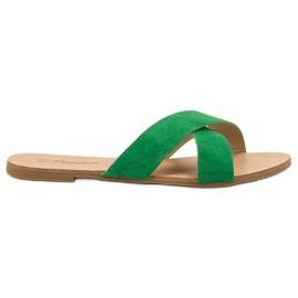 Primavera zöld Kényelmes sík papucs