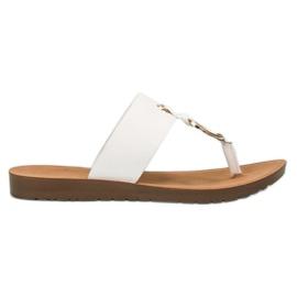 Bijela Elegantne flip-flops VINCEZA