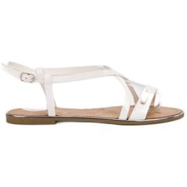 Anesia Paris bijela Lakirane ravne sandale