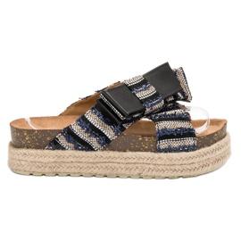 Vices crna Tekstilne papuče na platformi