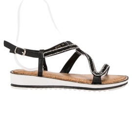 SHELOVET Sandale na platformi crna