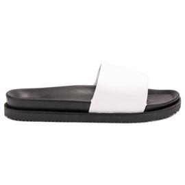 Clowse bijela Bijele ženske papuče