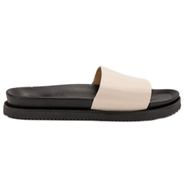 Clowse barna Beige ženske papuče