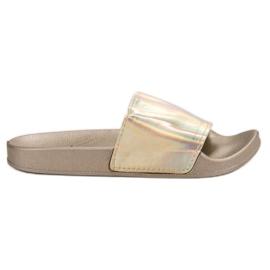Small Swan sárga Moderne Zlatne papuče