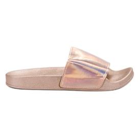 Small Swan rózsaszín Moderne papuče od ružičastog zlata
