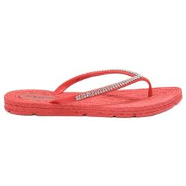 Seastar crvena Papuče s cirkonima