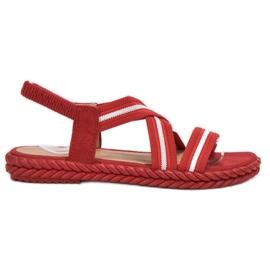 Seastar crvena Udobne ženske sandale