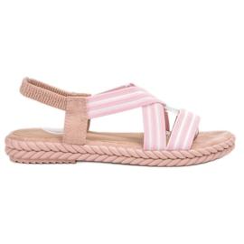 Seastar roze Udobne ženske sandale