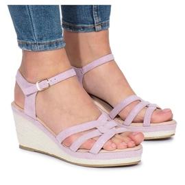 Ljubičaste sandale Glavel klin purpurna boja