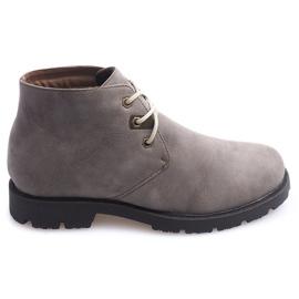 Siva Visoke casual cipele vezane 81909 Taupe