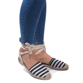 Crna Sandale Espadrilles Baletne cipele Balerinki 6368 crne