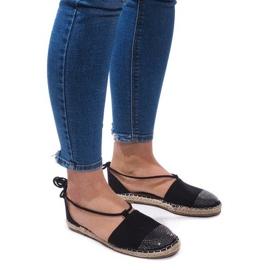Crna Sandale Espadrilles Baletne cipele Balerinki 6333 Crne