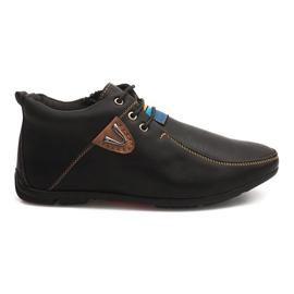 Fekete Cipele s visokim stupnjem zagrijavanja kvrga WF622-3 Crna