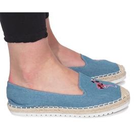 Kék Plavi espadrile Flaming Jeans