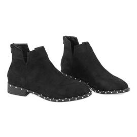 Crne antilop čizme sa štiklama 3283-1 crna