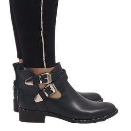 Ideal Shoes mornarica Mornarsko otvorene čizme Y8157