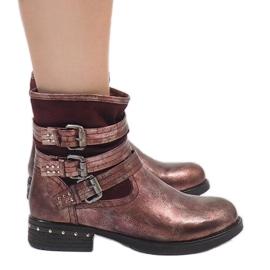Kayla Shoes crvena Burgundski izolirane čizme S109