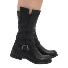 Sixth Sens crna Crne elegantne čizme JW19