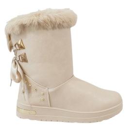 Smeđ Ženske bež čizme za snijeg AN-107