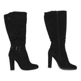 Crna Crne čizme na izoliranom stupu 617-1